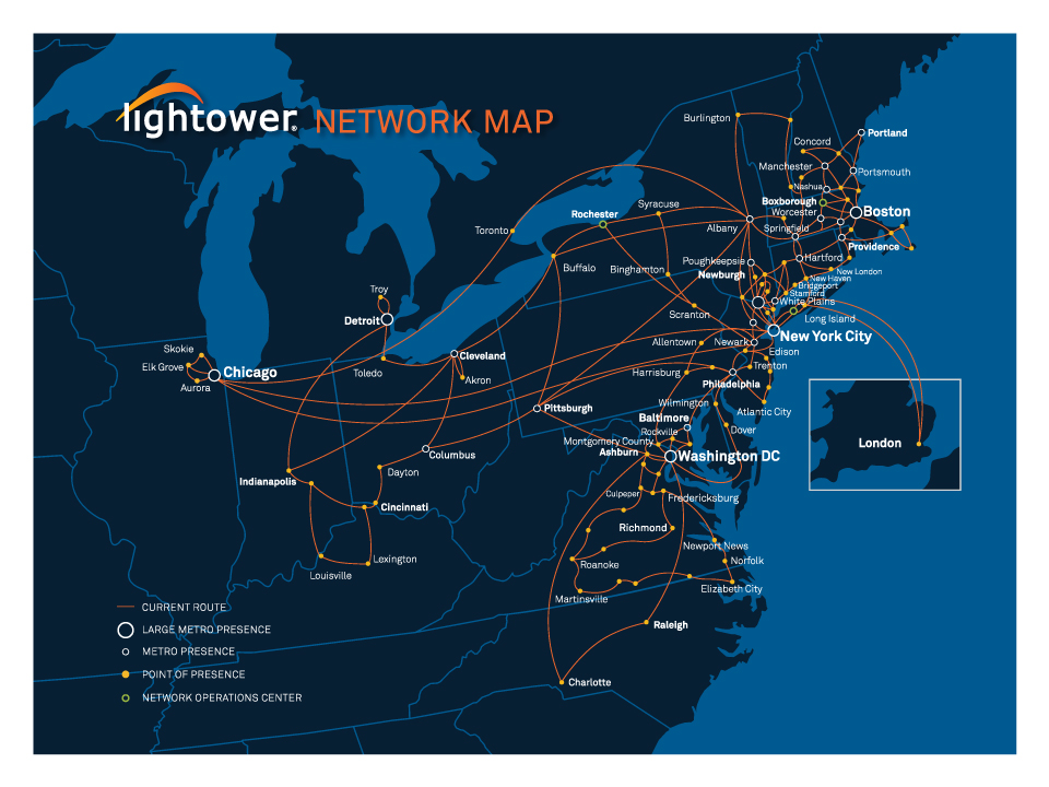 Lightower network map